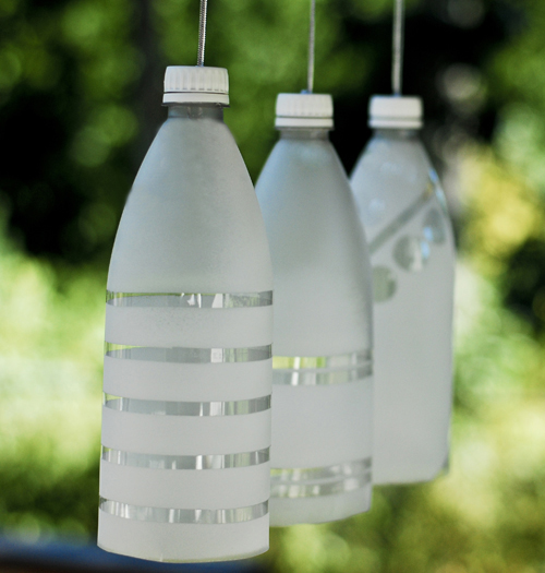 Recycled bottle party light for Water bottle recycling ideas