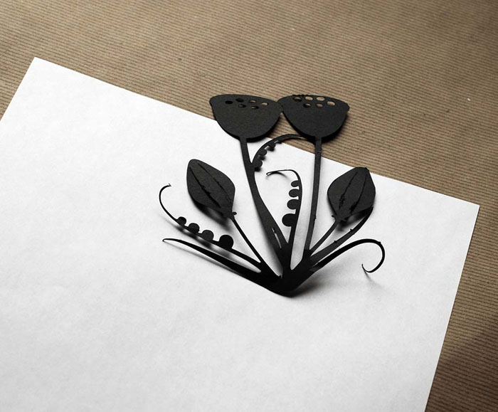 The Cutest Floral Paper Cut Greeting Cards