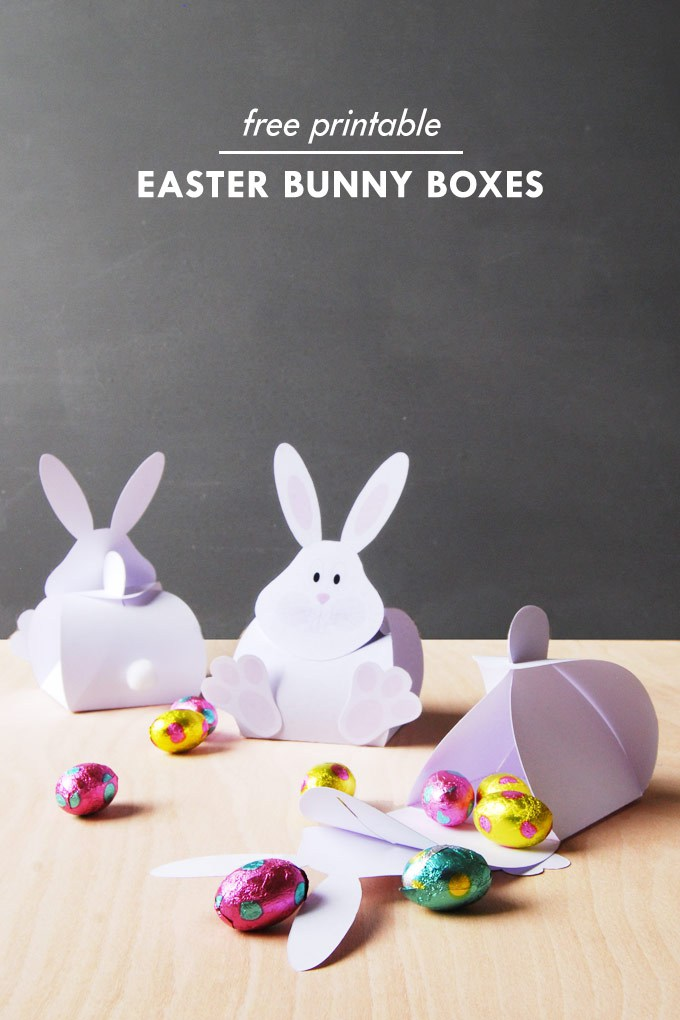 free paper box and bag templates easter bunny box