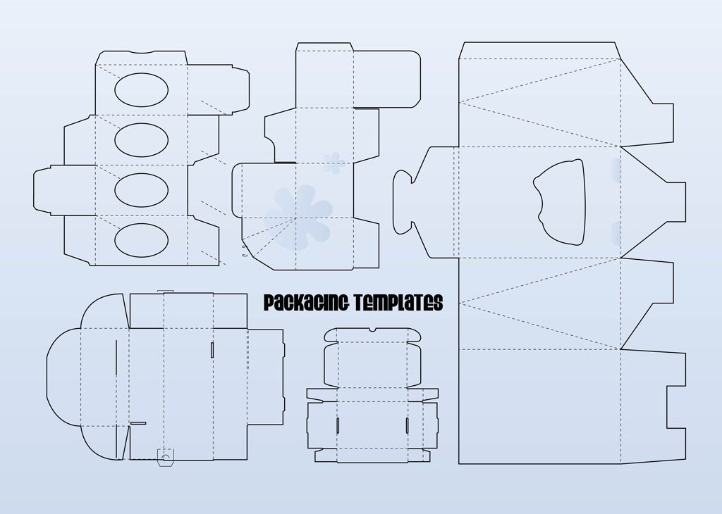 free paper box and bag templates packaging templates