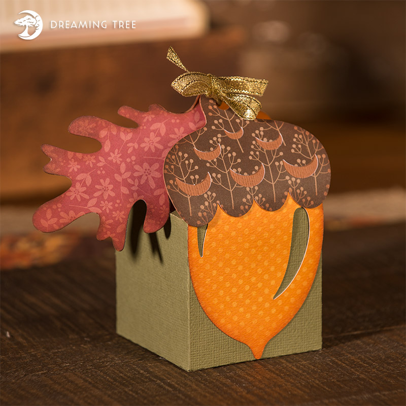 free paper box and bag templates acorn box