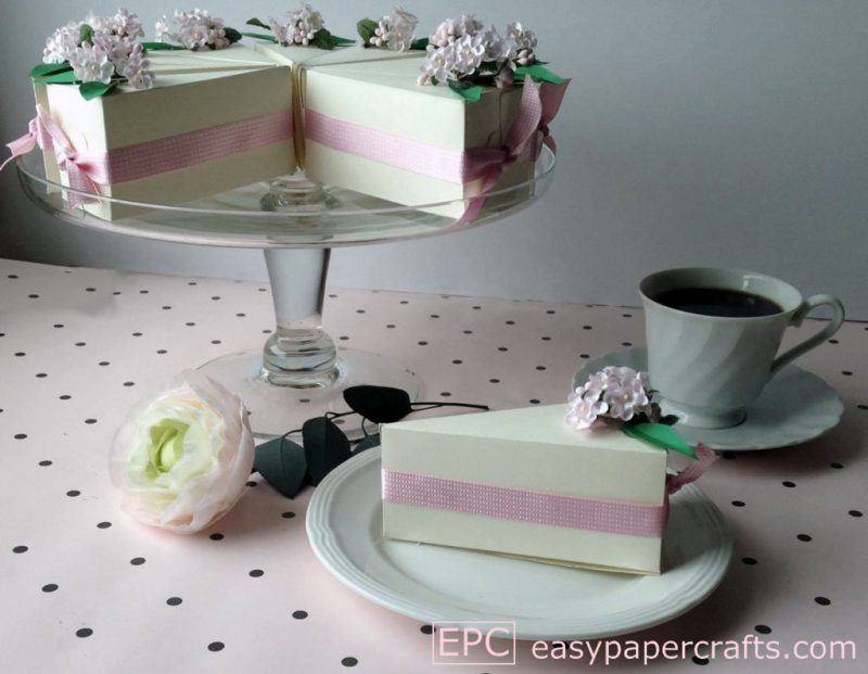 paper cake on a cake stand