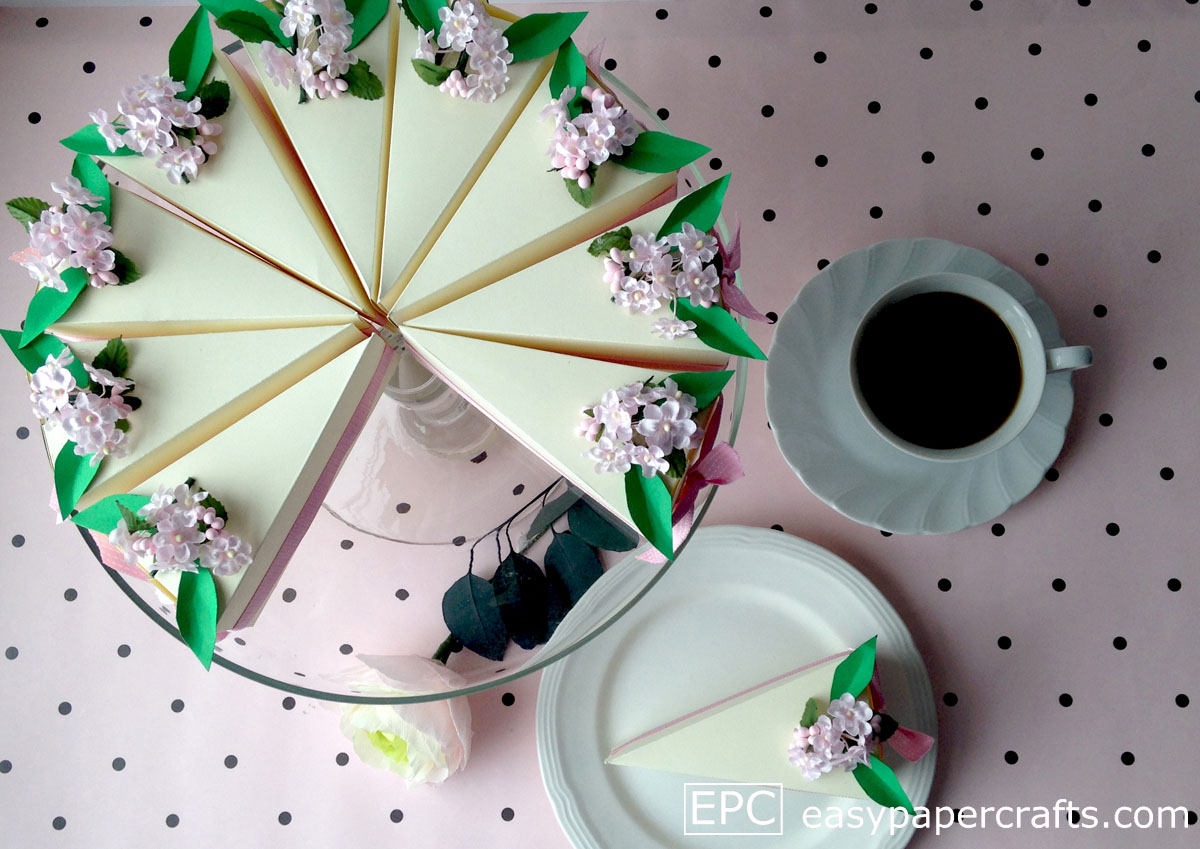 paper cake on stand