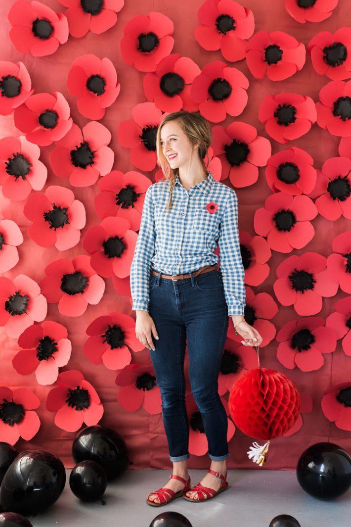 paper poppy Photo backdrop