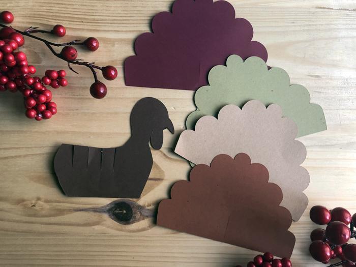 paper turkey craft parts