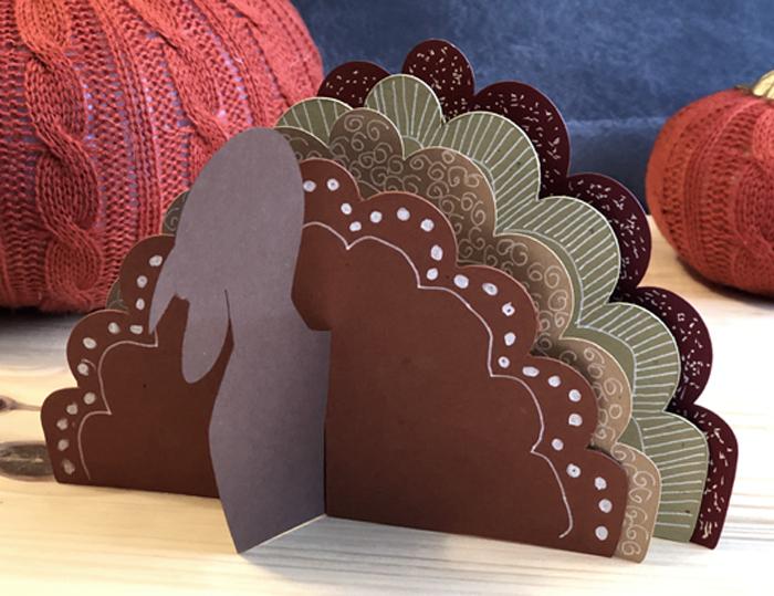 paper turkey craft closeup