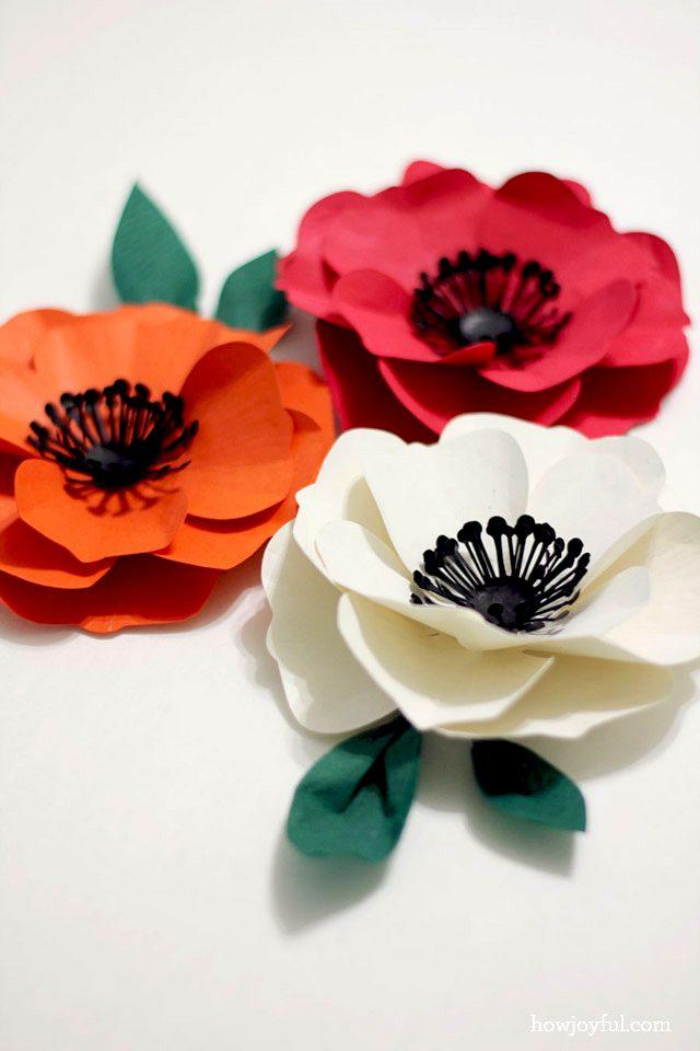 silouette paper poppy flower