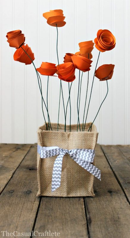stylized paper poppies