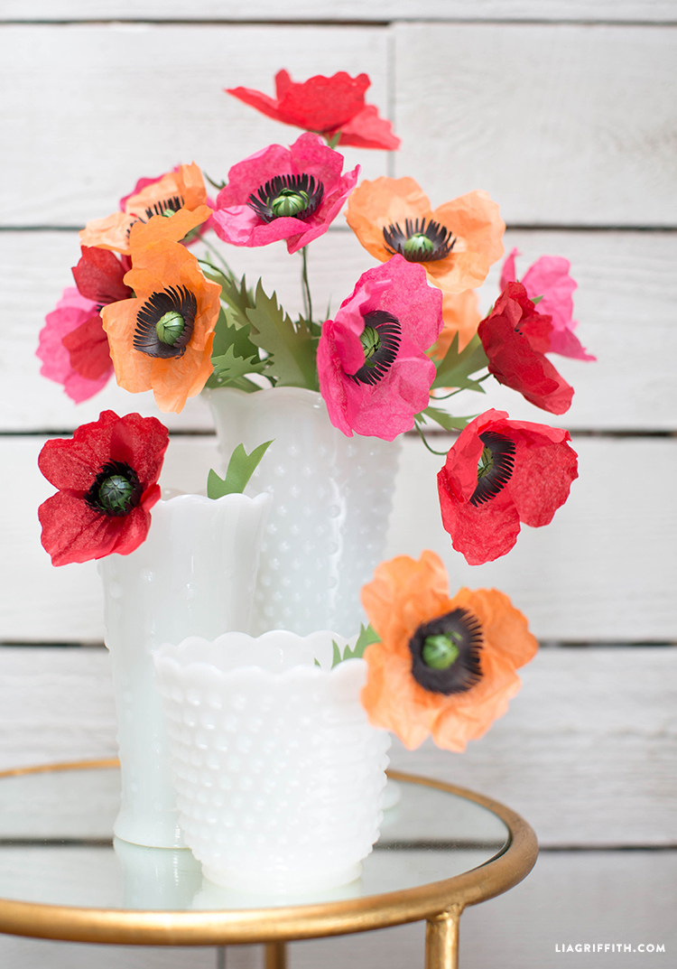 tissue paper poppy flower
