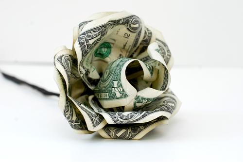 Paper Flower From Dollar Bills