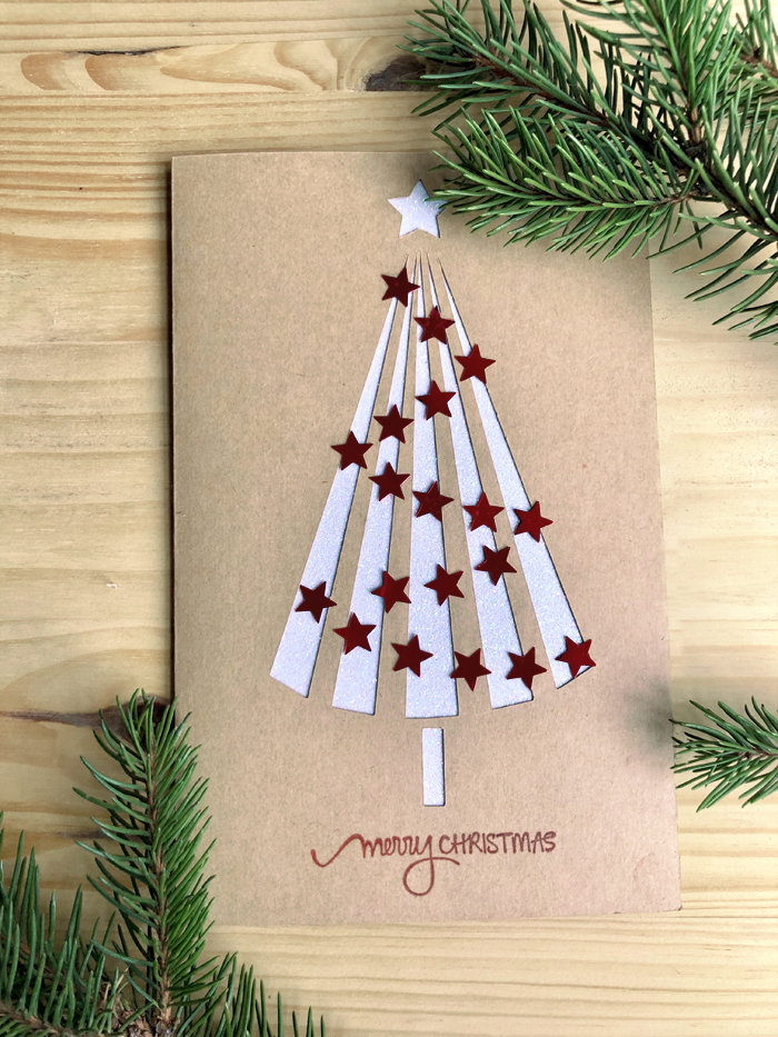 Free Christmas Greeting Card Tutorial