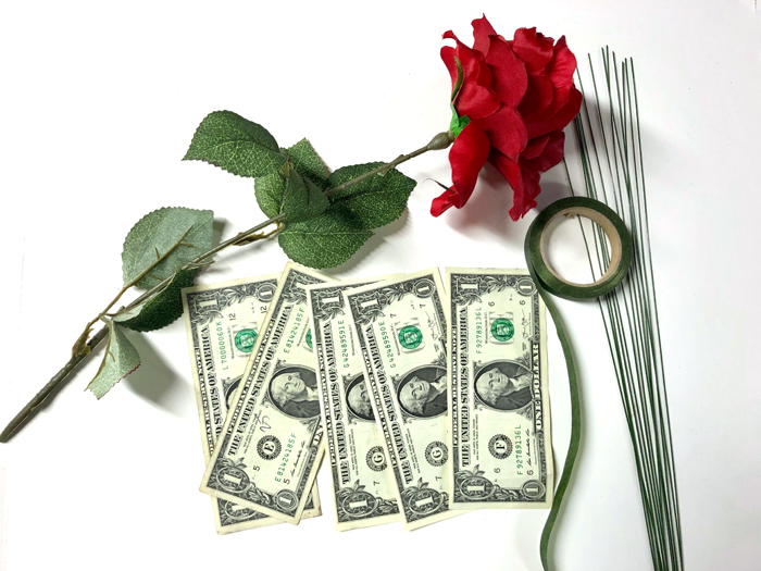 supplies needed to make a money rose