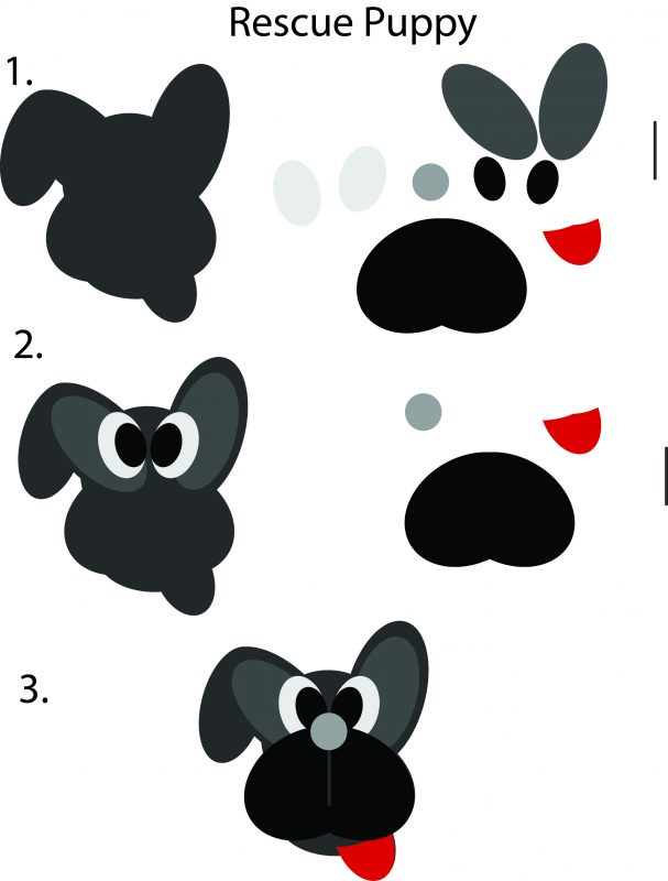steps to building a dog puppet