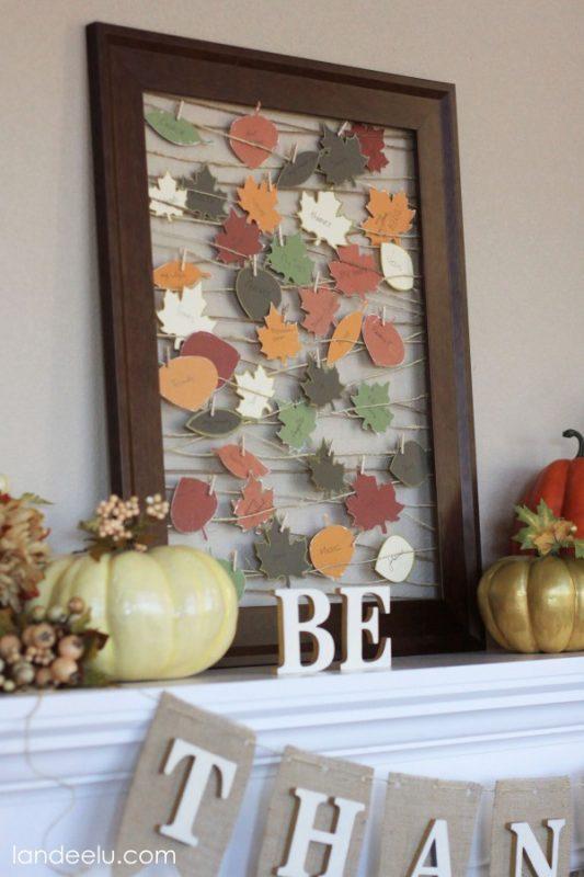 framed paper autumn leaves