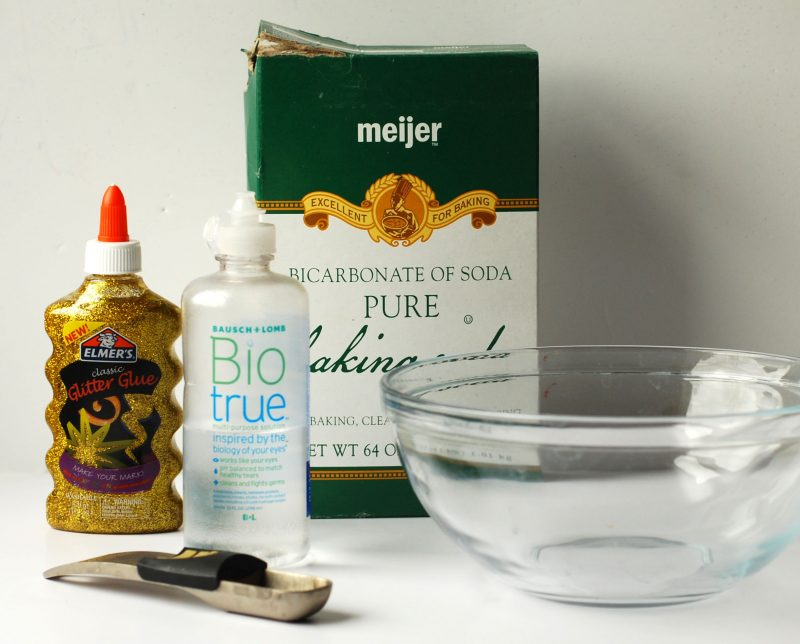 products needed to make glittler glue slime