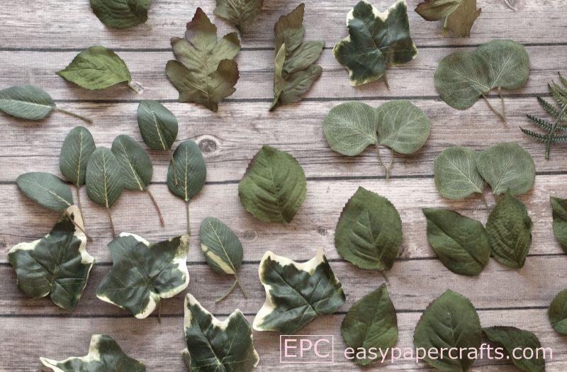 silk greenery on wood heart wreath DIY