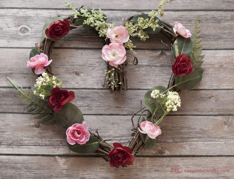heart wreath DIY