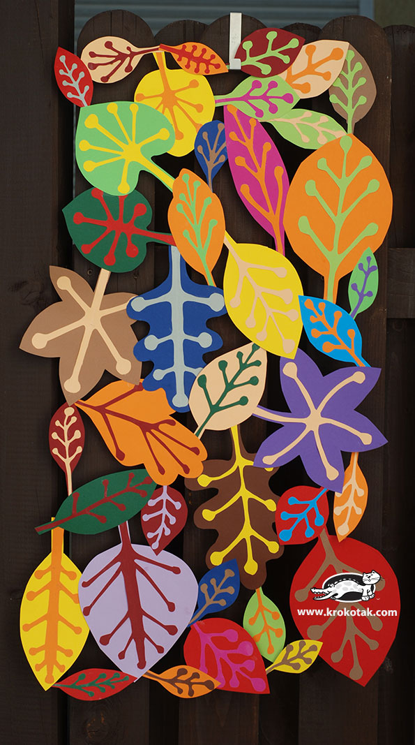 fall crafts for kids fall leaf paper lace