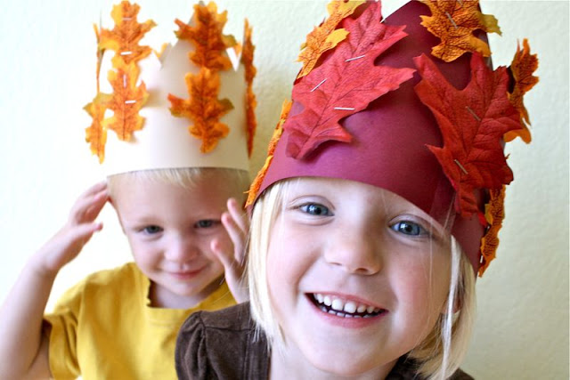 fall crafts for kids autumn leaf crowns