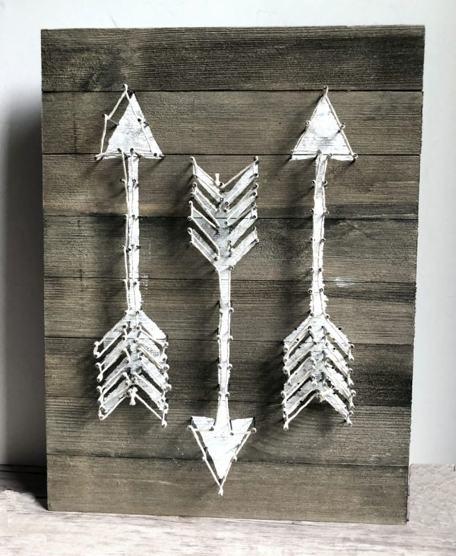 finished barnwood arrow plaque