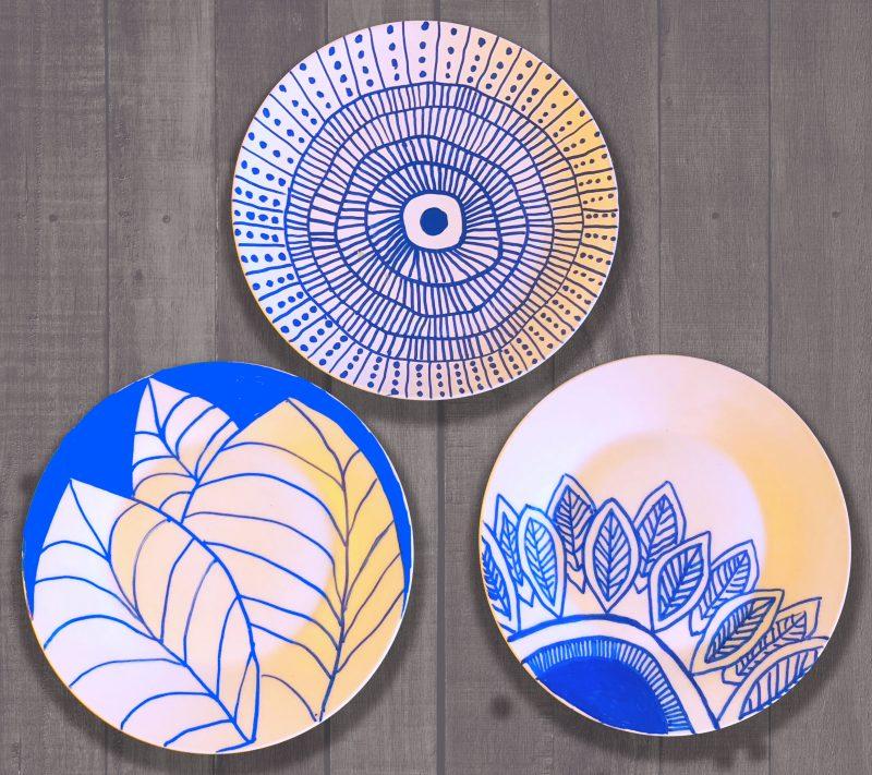 sharpie marker plates