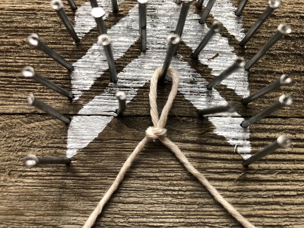 slipknot around nail