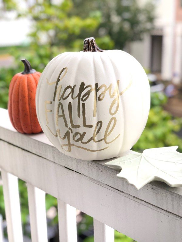 gold calligraphy pumpkin