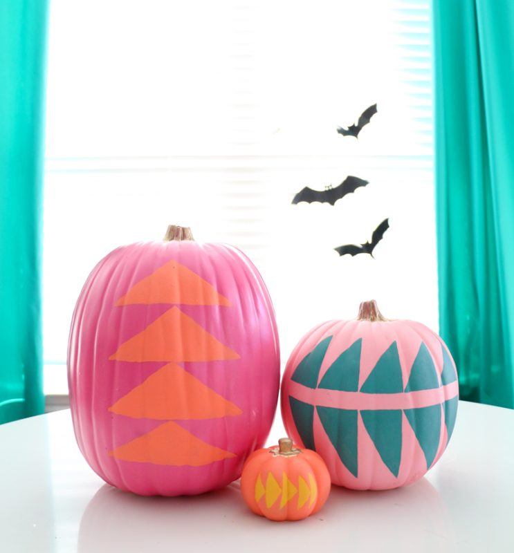 mid century geometric pumpkins