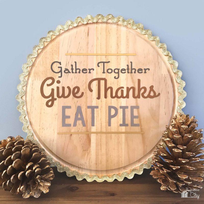 wooden thanksgiving craft
