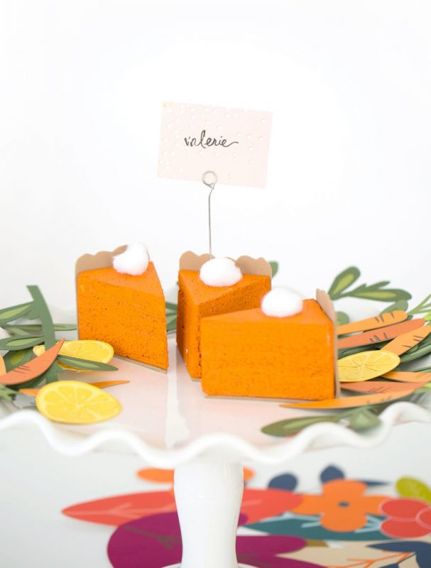 diy pumpkin placecards