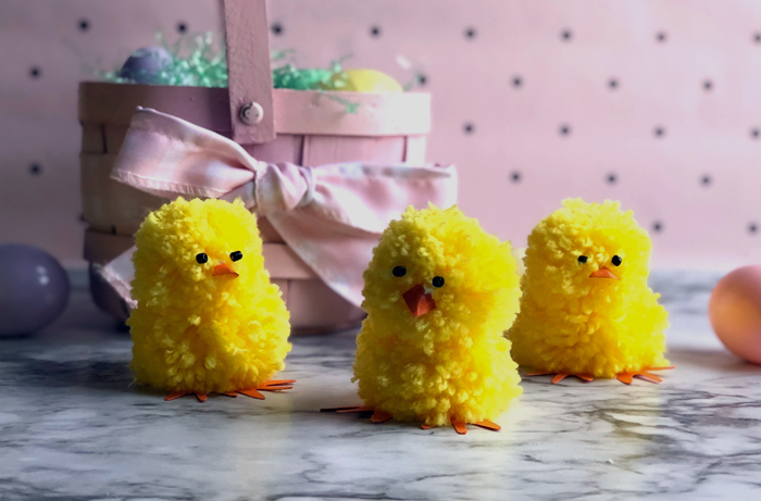 cuter Easter chicks from yarn pom poms