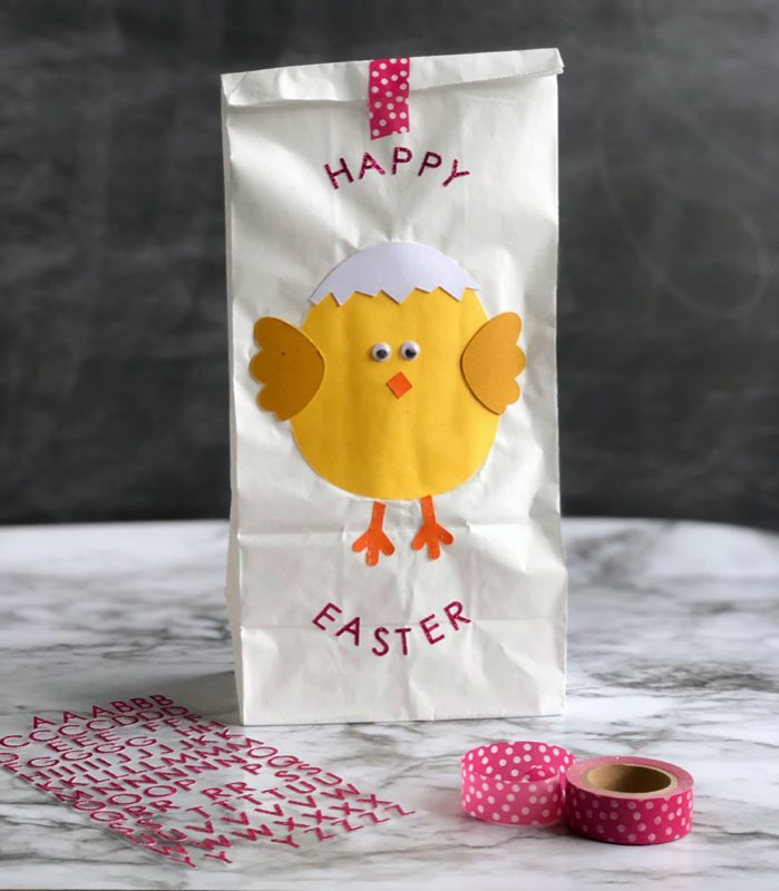 easter chick lunch bag craft