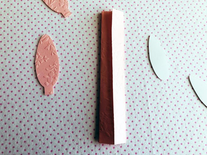 template parts of DIy Paper Napkin Bunny ear ring