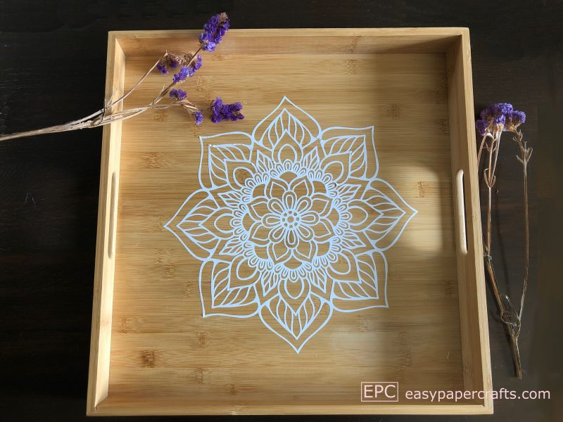 DIY Boho Wooden Mandala Serving Tray