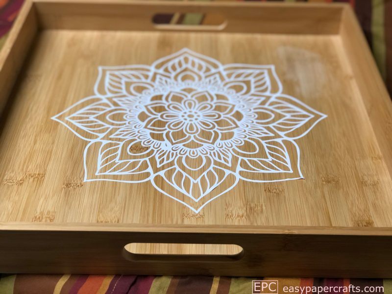 DIY Boho Mandala Serving Tray sticker