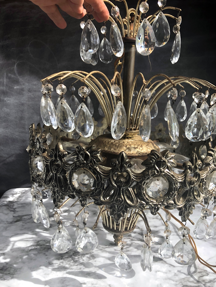 Recycled Crafts from a chandelier