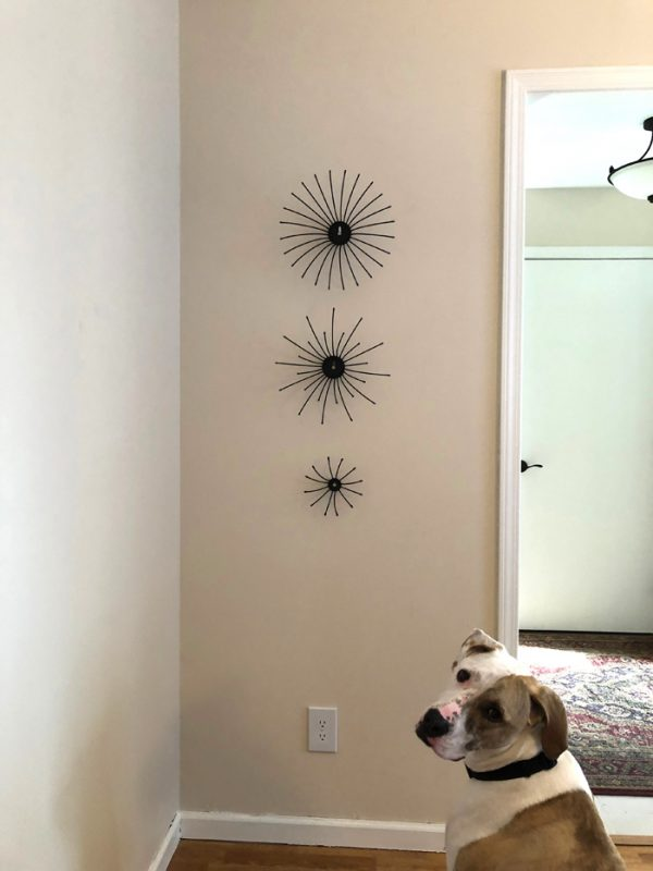 recycled metal wall art