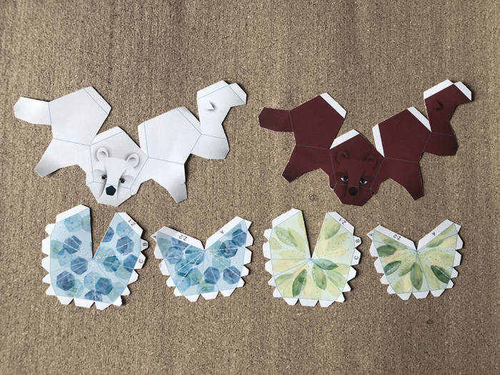 3D paper bear sections (3d Paper Crafts)