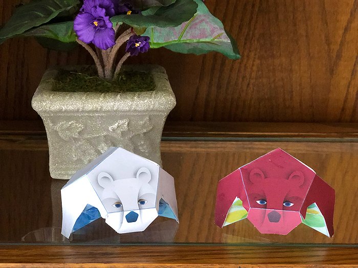 paper bears on a shelf