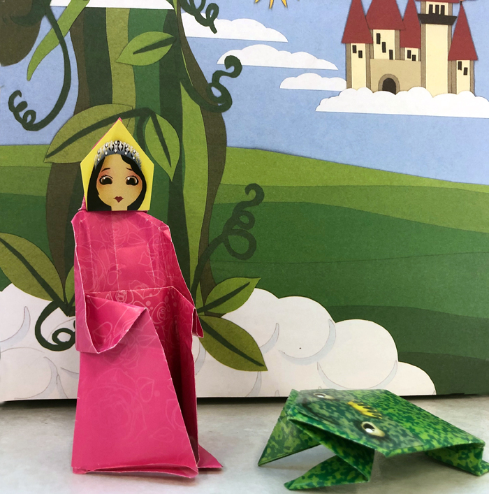 princess and frog folded origami projects