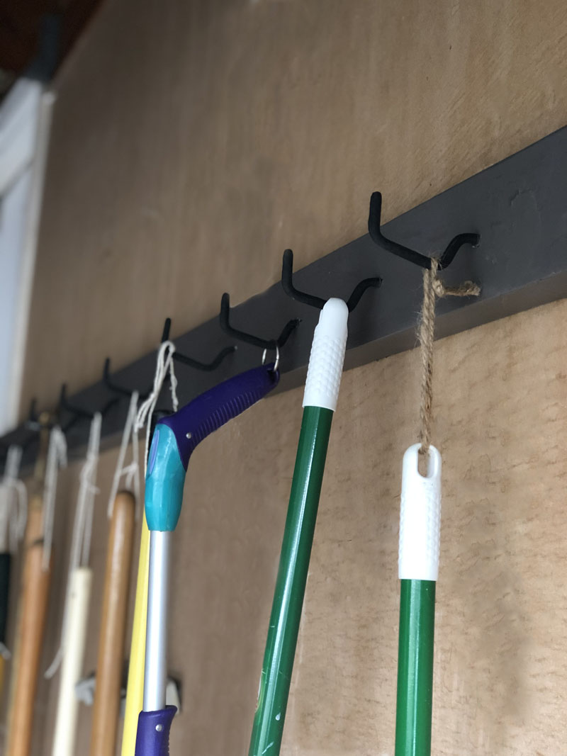 DIY Garage Tool Rack